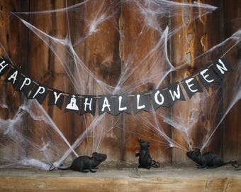 HAPPY HALLOWEEN Banner - Halloween Banner - Party Banner - Party Decorations - Custom Halloween Banner