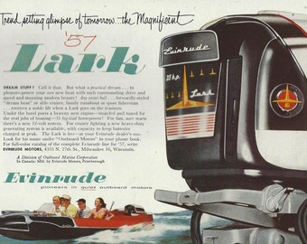 evinrude boat motor  fishing advertising 1950s downloads