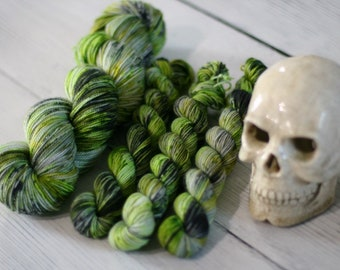 Ready To Ship - The Ghost With the Most - Speckled Yarn - Sock Yarn - Hand Dyed -Yarn - Merino - Nylon - Yarn - Knitting - Ready to Ship