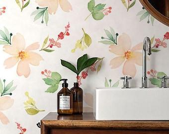 seamless floral wallpaper flower wallpaper floral wall mural floral home dcor floral - Flower Wallpaper For Walls