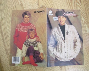 Patons Canadiana Tweed / Patons 661 / Beehive Book 661 / Cardigan sweater knitting patterns