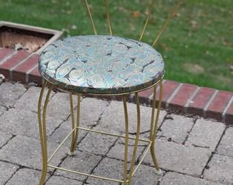 Vanity chair etsy for Boudoir stoel