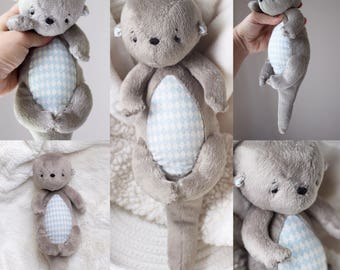 Stuffed Animal-  Toy Otter - Tati Otter-  Handmade Otter -Made to Order