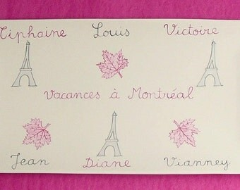 Custom tray Souvenir of Paris or elsewhere