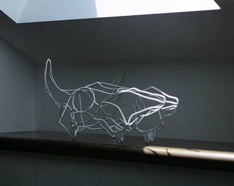 Wireframe Cow Scull