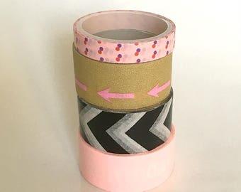 lot de washi tape, rouleaux de masking tape, Washi tape rose , masking tape, ruban décoratif, ruban adhésif, scrapbooking, bullet journal