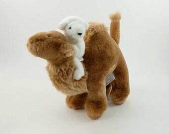Vintage 80s Camel Plush, North American Bear Company, Stuffed Camel, Dromedary, Hump Day Camel, Camel Lover, Camel Gift, White Bear