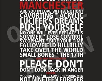 Courteeners Old Trafford Manchester Saturday May 27th 2017 Set List Poster