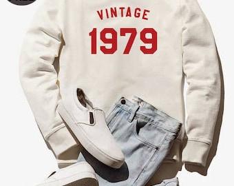 Vintage Sweatshirt 39th birthday sweatshirt 1979 sweater women sweatshirt men tshirt crewneck sweater graphic tshirt birthday funny tshirt