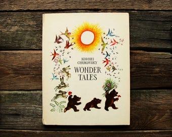 Kornei Chukovsky - Wonder Tales - Illustrators Konashevich, Suteyev, Kanevsky, Vasnetsov -- Vintage Soviet Illustrated Children's Book, 1973