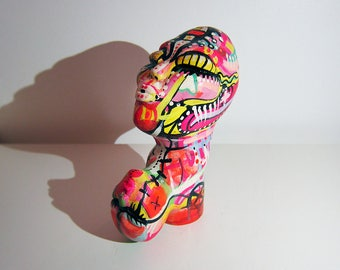 ORIGINAL Clay Sculpture, Abstract Sculpture, Bust Sculpture, Clay art object, Stone, Fertility Goddess, Tribal Art,  Handmade -JoJoe