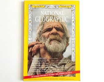 Vintage National Geographic January 1973 / 1970s Nat Geo / National Geographic Magazine / Vintage Photography, Vintage Ads, 1970s Photos