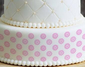 Cake Stencils- Simple Daisy Pattern Stencil, Birthday Cake, Wedding Cake, Celebration Cake, Washable, Reusable, Dishwasher Safe, Food Safe