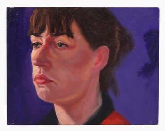 Kim Moore Oil Painting Woman Portrait Vintage