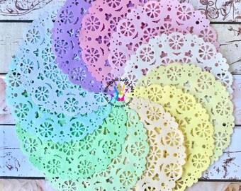 Medallion Pastel Paper Doilies. 1 pack of 10pcs.
