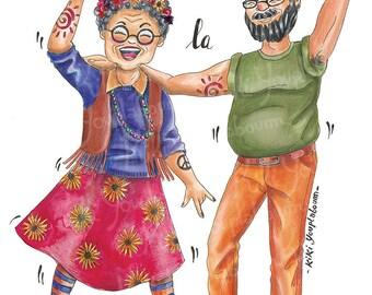 "Humorous postcards ""Modern retirement"""