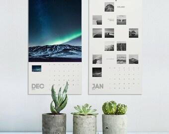 Iceland Calendar, 2018 Wall Calendar, Iceland Photography, Landscape Calendar, Photography Calendar, Photo Calendar 2018, Christmas Gift
