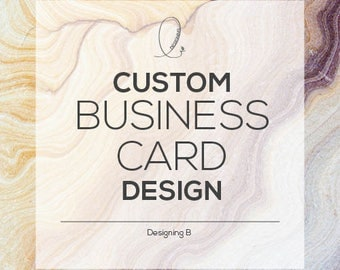 Custom Business Card Design - Including Moo Print Designs