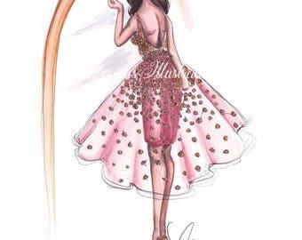 Fashion illustration, Makeup illustration, Girl illustration, Girl sketch, Fashion art, Makeup art, Woman illustration, Fashion wall art