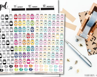 UPDATED - 52 Week Savings Challenge Stickers - Planner Stickers - FS31