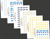 Weather Icons -  Stickers For All Planners - Repositionable Matte Vinyl