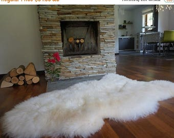 ON SALE Original, Natural GIANT Xxl White Genuine Natural Sheepskin Rug Exclusive rug