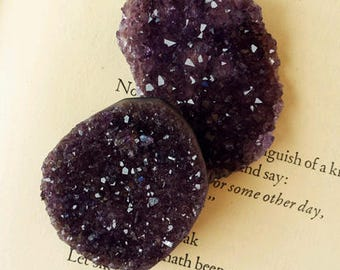 Amethyst Druzy Medallions for Peace, Psychic Powers and Inspiration, Healing Crystals and Stones, Gemstones, Witchcraft, Wicca, Spiritual