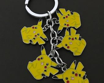 Pokemon Key Chain , Cartoon , Adults , Teens , Charms , Anime , Cute , Mouse , Pikachu