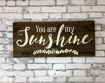 You are my sunshine wood sign | Sunshine Sign | You are my sunshine wall art