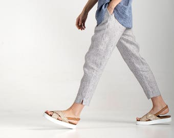 Linen Pants / Linen Trousers / Linen Pants for Women / Loose Pants