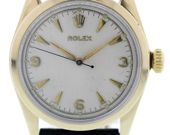 Vintage Rolex Oyster Perpetual Gold Shell Bubble Back 6334