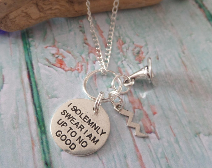 wizard necklace, solemnly swear, up to no good, harry  gift, harry necklace, wizard necklace, wizard gift, fandom gift, sandykissesuk