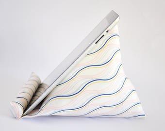 iPad Stand, iPad Holder, iPad Pillow, iPad Cushion, Tablet Stand, Tablet Holder, Tablet Pillow, Tablet Cushion - Pastel Streamers