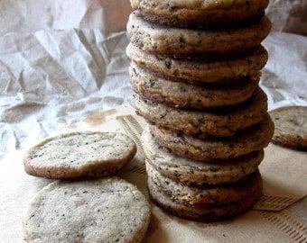 mocha shortbread cookies,mocha butter cookies,  organic cookies, tea cookies