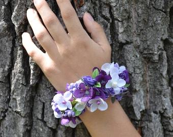 Wrist corsage Wedding flowers bracelet Prom flower corsage Flower corsage Bridesmaids flower corsage Flower bracelet Wedding corsage