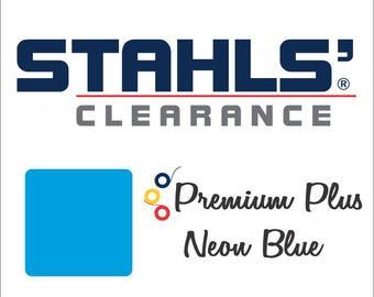"12"" x 20"" - 15 Craft Sheets  - Stahls' Premium Plus - Iron-on - Heat Transfer Vinyl - HTV - Neon Blue"