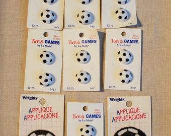 Soccer Buttons & Soccer Applique