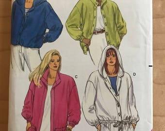 Butterick 5461 - Very Loose Fitting Jacket with Button Front, Drawstring Waist, and Hood Options - Size 14 16 18
