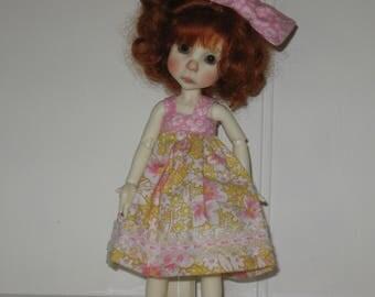 yellow /pink sundress for Little Lulu