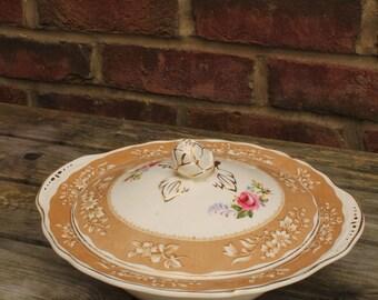 Marlborough Rose Grindley Porcelain Lidded Vegetable Tureen