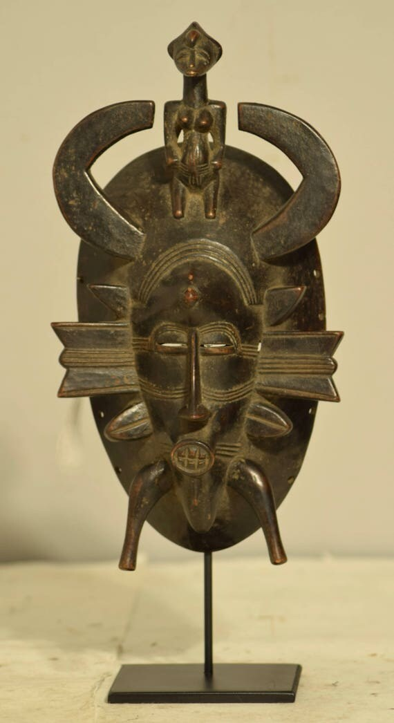 African Mask Senufo Tribe Ivory Coast Handmade Ancestor Worship Spiritual  Fertility Harvest Initiation Senufo Mask