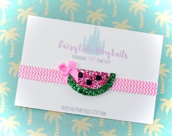 WATERMELON Headband, Glitter, Adjustable