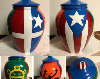 Painted Clay Pot