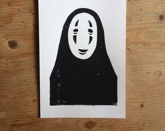 No Face (Studio Ghibli) Print
