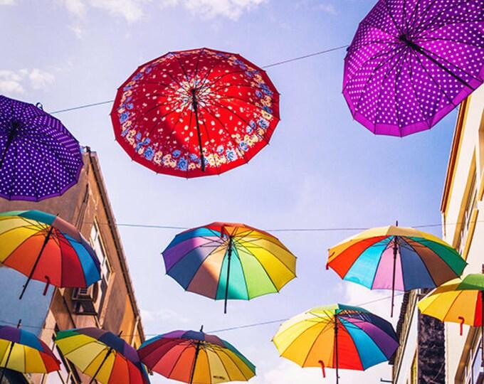 Featured listing image: Photographie Fine Art - Les Parapluies volants - Toile photo - Istanbul - Turquie