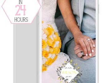 Framed Spring Wedding Snapchat Filter. Geofilter. Customized