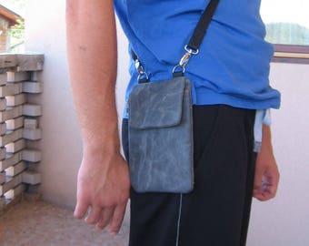 Free Shipping, Waxed Canvas Crossbody Bag, Small Shoulder Bag, Waxed Canvas Handbag, Everyday Bag, Waxed Canvas Pouch, Vegan Waist Bag