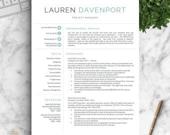 Professional cv template for word and pages creative cv modern resume template for word and pages creative modern resume design modern cv yelopaper Images