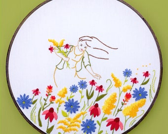 Hand Embroidery Kit - Floral Mountain