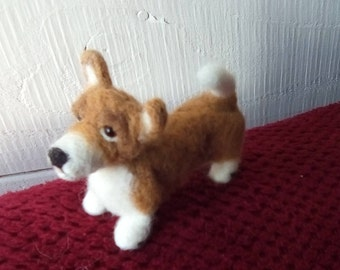 Needle felted little Corgi miniature